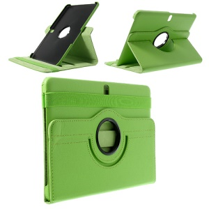 Green 360 Swivel Stand Litchi Leather Tablet Case for Samsung Galaxy Tab Pro 10.1 T520 T525