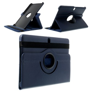 Dark Blue for Samsung Galaxy Tab Pro 10.1 T520 T525 Litchi Leather Cover w/ 360 Rotary Stand