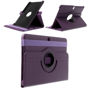 Dark Purple for Samsung Galaxy Tab Pro 10.1 T520 T525 360 Rotary Litchi Leather Stand Case