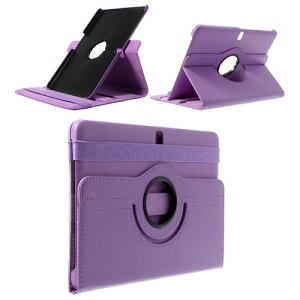 Light Purple for Samsung Galaxy Tab Pro 10.1 T520 T525 360 Rotary Stand Litchi Leather Shell