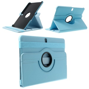Light Blue 360 Rotary Litchi Leather Stand Case for Samsung Galaxy Tab Pro 10.1 T520 T525