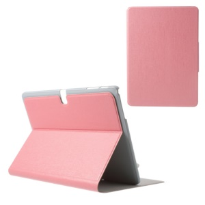 Pink Oracle Grain for Samsung Galaxy Tab Pro 10.1 T520 T525 Card Slots Leather Stand Case