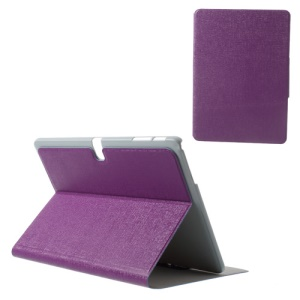 Purple Oracle Grain PU Leather Stand Cover for Samsung Galaxy Tab Pro 10.1 T520 T525 P600