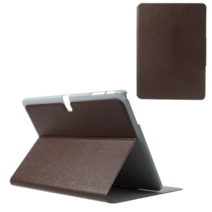 Brown Oracle Grain Stand Leather Skin Shell for Samsung Galaxy Tab Pro 10.1 T520 T525 P600