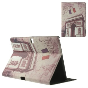 For Samsung Galaxy Tab Pro 10.1 T520 T525 Retro France Triumphal Arch Leather Flip Cover Stand