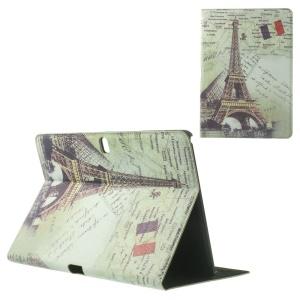 For Samsung Galaxy Tab Pro 10.1 T520 T525 Eiffel Tower Vintage Design Leather Skin Cover w/ Stand