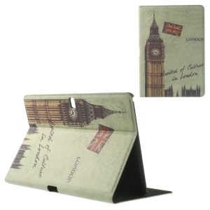 Retro UK Big Ben Cross Leather Stand Shell for Samsung Galaxy Tab Pro 10.1 T520 T525