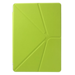 Origami Stand PU Leather Cover for Samsung Galaxy Tab Pro 10.1 T520 T525 - Yellowgreen