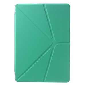 PU Leather + PC Case Origami Stand for Samsung Galaxy Tab Pro 10.1 T520 T525 - Cyan