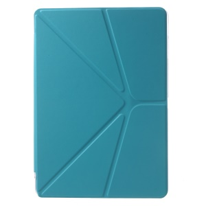 PU Leather + PC Cover Origami Stand for Samsung Galaxy Tab Pro 10.1 T520 T525 - Blue