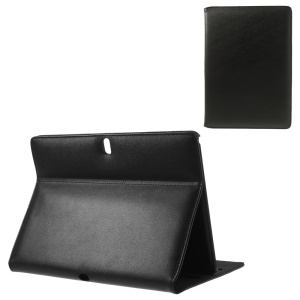 Doormoon Genuine Leather Flip Case Stand for Samsung Galaxy Tab Pro 10.1 T520 T525 - Black