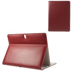 Doormoon Genuine Leather Flip Cover Stand for Samsung Galaxy Tab Pro 10.1 T520 T525 - Red