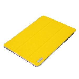 Yellow ROCK Elegant Series Smart Tri-fold Leather Stand Cover for Samsung Galaxy Tab Pro 10.1 T520 T525