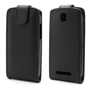 Vertical Leather Case Magnetic Flip Cover for HTC One SV One ST T528t