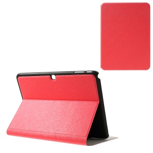 For Samsung Galaxy Tab 4 10.1 T530 T531 T535 Graffiti Lines Protective Leather Case Stand - Red