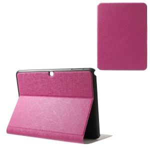 Graffiti Lines Bracket Leather Skin Cover for Samsung Galaxy Tab 4 10.1 T530 T531 T535 - Rose