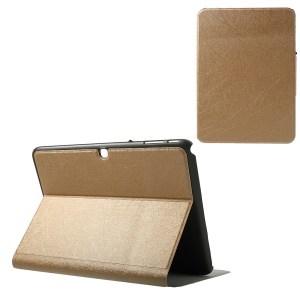 Graffiti Lines Leather Card Slots Case for Samsung Galaxy Tab 4 10.1 T530 T531 T535 - Champagne