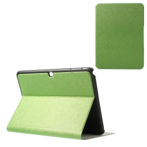 Graffiti Lines Stand Leather Case Shell for Samsung Galaxy Tab 4 10.1 T530 T531 T535 - Green