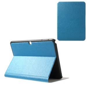 Graffiti Lines PU Leather Protector Case for Samsung Galaxy Tab 4 10.1 T530 T531 T535 - Blue