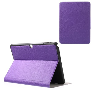 Graffiti Lines for Samsung Galaxy Tab 4 10.1 T530 T531 T535 PU Leather Stand Shell - Purple