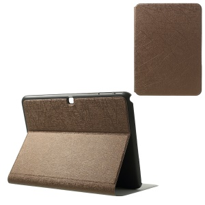 Graffiti Lines for Samsung Galaxy Tab 4 10.1 T530 T531 T535 Stand Leather Tablet Cover - Brown