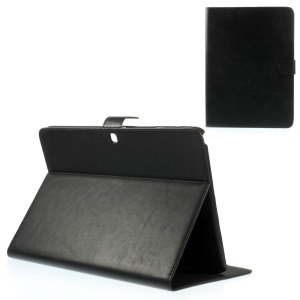 Black Textured Leather Magnetic Case w/ Stand for Samsung Galaxy Tab 4 10.1 T530 T531 T535