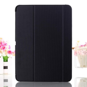 Black Tri-fold Stand Leather Smart Cover for Samsung Galaxy Tab 4 10.1 T530 T531 T535