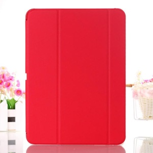 Red Tri-fold Leather Smart Cover w/ Stand for Samsung Galaxy Tab 4 10.1 T530 T531 T535