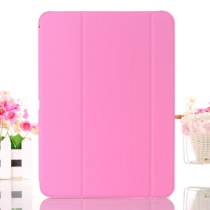 Pink Leather Smart Cover w/ Tri-fold Stand for Samsung Galaxy Tab 4 10.1 T530 T531 T535