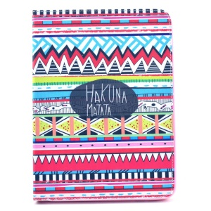 Tribal Tribe Hakuna Matata Leather Stand Case for Samsung Galaxy Tab 4 10.1 T530 T531 T535
