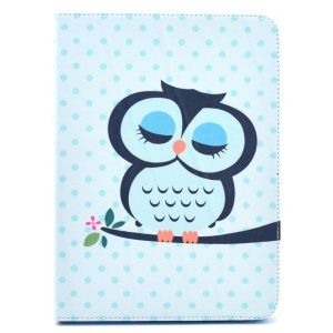 Sleeping Owl on the Branch Stand Leather Cover for Samsung Galaxy Tab 4 10.1 T530 T531 T535