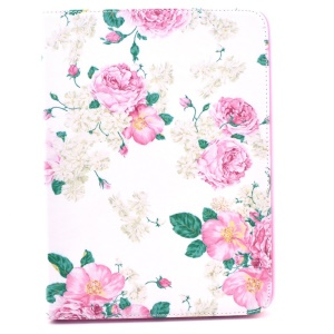 Beautiful Flowers PU Leather Case Accessory for Samsung Galaxy Tab 4 10.1 T530 T531 T535