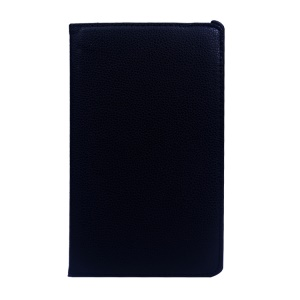 Rotary Stand Litchi Grain Leather Cover for Samsung Galaxy Tab S 8.4 T700 T705 - Black