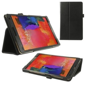 Litchi Leather Stand Case for Samsung Galaxy Tab S 8.4 T700 T705 - Black