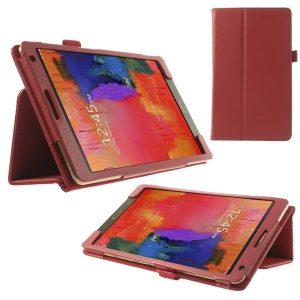 Litchi Leather Stand Case Shell for Samsung Galaxy Tab S 8.4 T700 T705 - Red