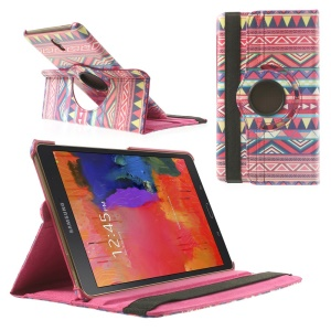 Rotating Stand Leather Case for Samsung Galaxy Tab S 8.4 T700 T705 - Aztec Tribal Pattern