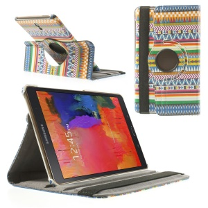 Leather Case Rotating Stand for Samsung Galaxy Tab S 8.4 T700 T705 - Aztec Style Pattern