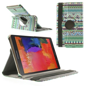 Leather Cover Rotating Stand for Samsung Galaxy Tab S 8.4 T700 T705 - Tribal Tribe Pattern
