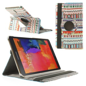 PU Leather Cover Rotating Stand for Samsung Galaxy Tab S 8.4 T700 T705 - Ethnic Pattern