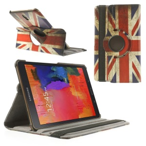 For Samsung Galaxy Tab S 8.4 T700 Rotating Stand Leather Case - Retro UK National Flag