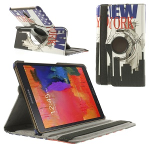 For Samsung Galaxy Tab S 8.4 T705 Rotating Stand Leather Cover - The Statue of Liberty