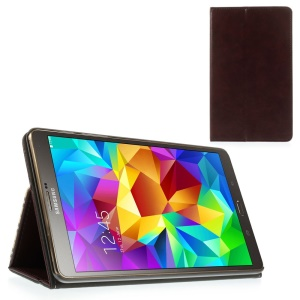 Wine Red Leather Case Card Holder w/ Elastic Band for Samsung Galaxy Tab S 8.4 T700 T705