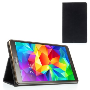 Dark Blue Leather Flip Cover Stand w/ Elastic Band for Samsung Galaxy Tab S 8.4 T700 T705