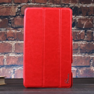 Red KLX Enland Series for Samsung Galaxy Tab S 8.4 T700 T705 Tri-fold Stand Leather Case