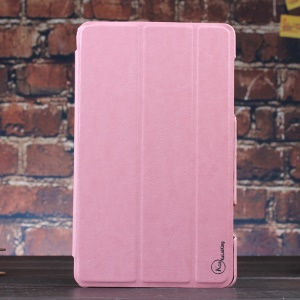 Pink KLX Enland Series for Samsung Galaxy Tab S 8.4 T700 T705 Tri-fold Stand Leather Case