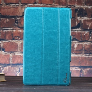 Blue KLX Enland Series for Samsung Galaxy Tab S 8.4 T700 T705 Tri-fold Stand Leather Cover