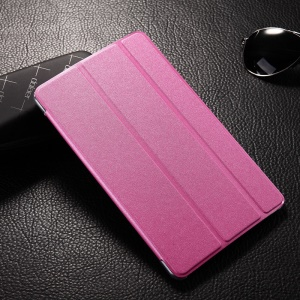 Tri-fold Sand-like Smart Leather Stand Case for Samsung Galaxy Tab S 8.4 T700 T705 - Rose