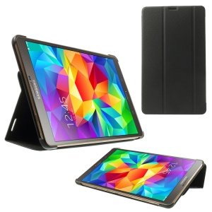 Slim Tri-fold Stand Folio Leather Case for Samsung Galaxy Tab S 8.4 T700 T705 - Black