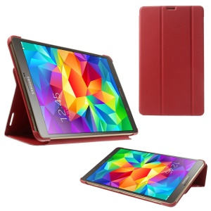 Slim Tri-fold Stand Folio Leather Case for Samsung Galaxy Tab S 8.4 T700 T705 - Red