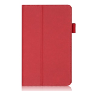 Red for Samsung Galaxy Tab S 8.4 T700 T705 Leather Stand Card Holder Shell w/ Elastic Hand Strap